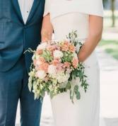 Sage & Peaches  Bridal Bouquet