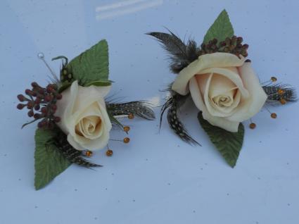 Sahara Rose with Feathers & Rhinestones