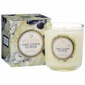 SAKE LEMON FLOWER Boxed Candle By Voluspa