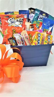 Salt and Sweet Basket  Orange and Blue !!!
