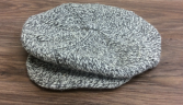 Salt & pepper cap Handmade 100% wool