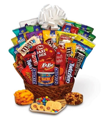 Salty and sweet gift basket
