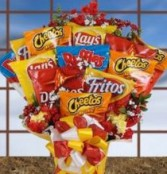 Salty Snacks Bouquet Candy Bouquet Gift Basket