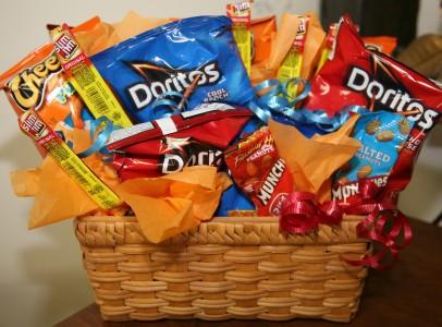 Salty Snacks Bouquet Gift Basket