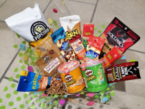 Salty Treats Basket Candy/Food/Drinks