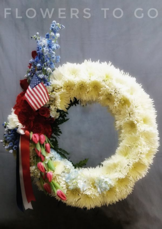 Salute  Funeral Standing Wreath