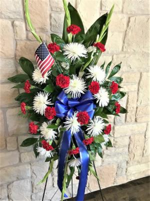 SALUTE TO A SERVICE MEMBER  in Buda, TX   Budaful Flowers
