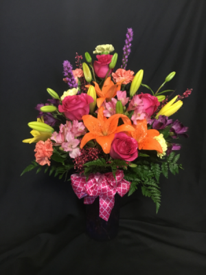 Salute to Colour Vase Arrangement in Red Lake, ON | FOREVER GREEN GIFT BOUTIQUE