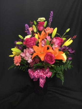 Salute to Colour Vase Arrangement