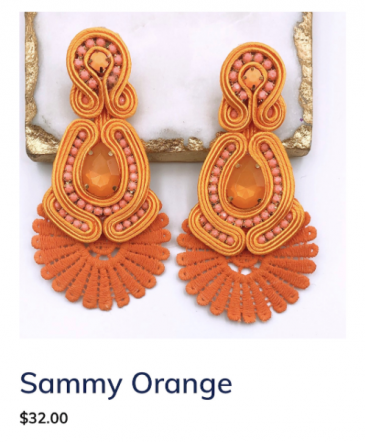 Sammy Orange Earrings