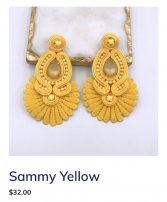 Sammy Yellow Earrings