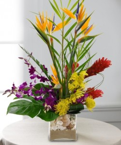 Sand And Sea Shells Tropical Flower Arrangement in Burbank, CA   LA BELLA FLOWER & GIFT SHOP