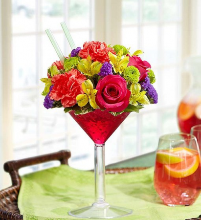 Sangria Bouquet Fresh Flower Martini