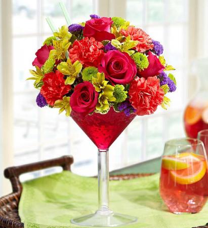 Sangria Martini Floral Bouquet