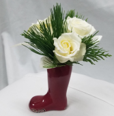 Santa Boot Fresh Floral Design
