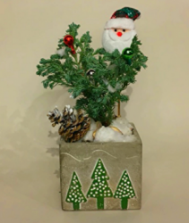 Santa Is Coming ! Christmas Planter