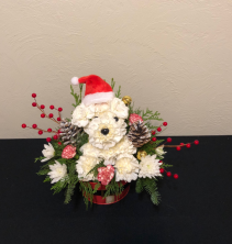Santa Pup Holiday Keepsake Arrangement