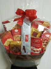 Basket-Santa Sack Sweet and Salty Treats