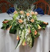 Santa  Sweetheart table arrangement