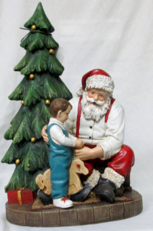 Santa with Boy Gift Item in Lock Haven, PA | INSPIRATIONS FLORAL STUDIO