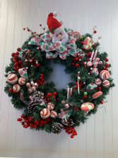 Santa Wreath Christmas Wreath