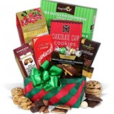 Santa's Delight Basket Gourmet Goodie Basket