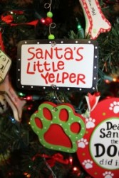 Santa's Little Yelper Ornament