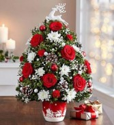 Roma Florist Santa's Sleigh  Ride Holiday Tree