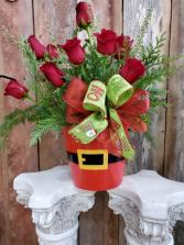 Santa's Surprise Dozen Roses Flowers
