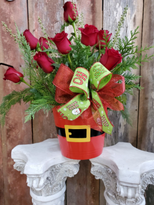 Santa's Surprise Dozen Roses Flowers in Eupora, MS | SARA'S FLOWERS AND GIFTS