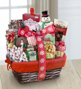 Santa's Sweets Goodie Basket