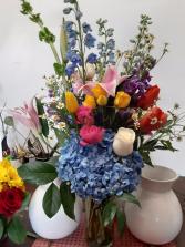 saphire blue vase