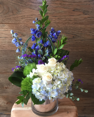 Sapphire Delight Arrangement in Croton On Hudson, NY | Cooke's Little Shoppe Of Flowers