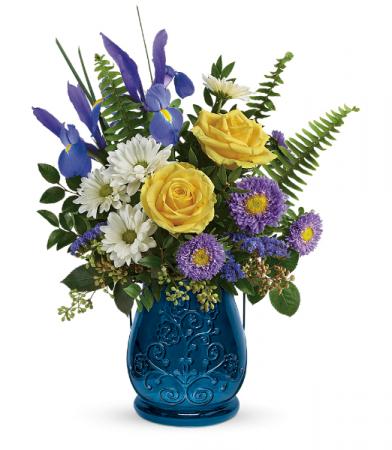 Sapphire Garden Bouquet All-Around Floral arrangement