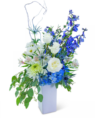 Sapphire Heart Flower Arrangement