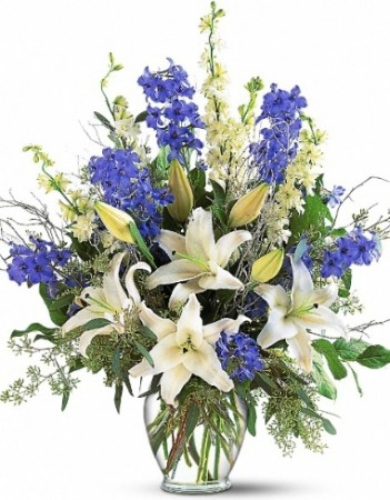 SAPPHIRE MIRACLE FLOWERS  ARRANGEMENT