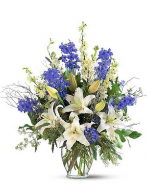Sapphire Miracle Arrangement in Croton On Hudson, NY | Cooke's Little Shoppe Of Flowers