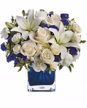 Sapphire Skies Arrangement in Cherokee, IA | Blooming House