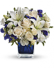 Sapphire Skies Bouquet Fresh Arrangement
