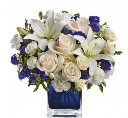 Sapphire Skies Bouquet Home