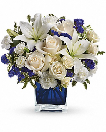 Sapphire Skies  Mixed Floral