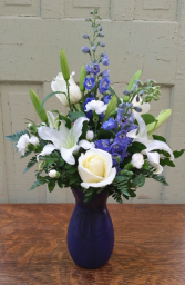 Sapphires and Stars Vase Arrangement