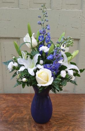 Sapphires and Stars Vase Arrangement