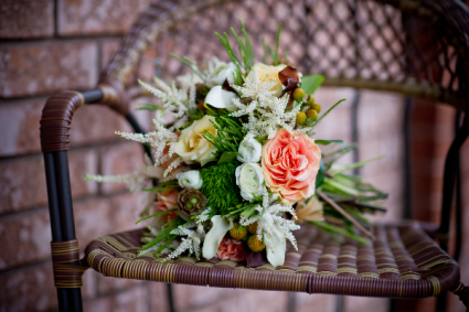 Sarah Rustic Hand-tied Bridal Bouquet
