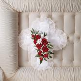 Satin Cross Casket Pillow