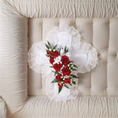 Satin Cross Casket Pillow
