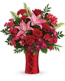 Satin Kisses Vase