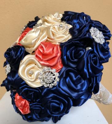 Satin & Sparkles Bridal Bouquet