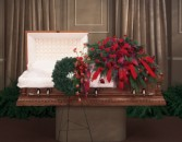 Say it With Love Wreath and Spray Casket Arrangement Set