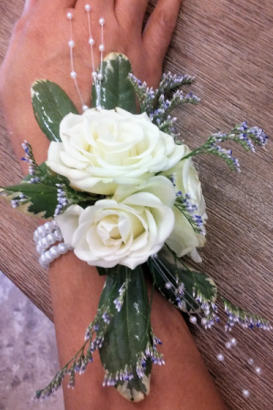 SAY IT WITH PEARLS WRIST CORSAGE in Venice, FL | ALWAYS AN OCCASION FLORIST & DECOR